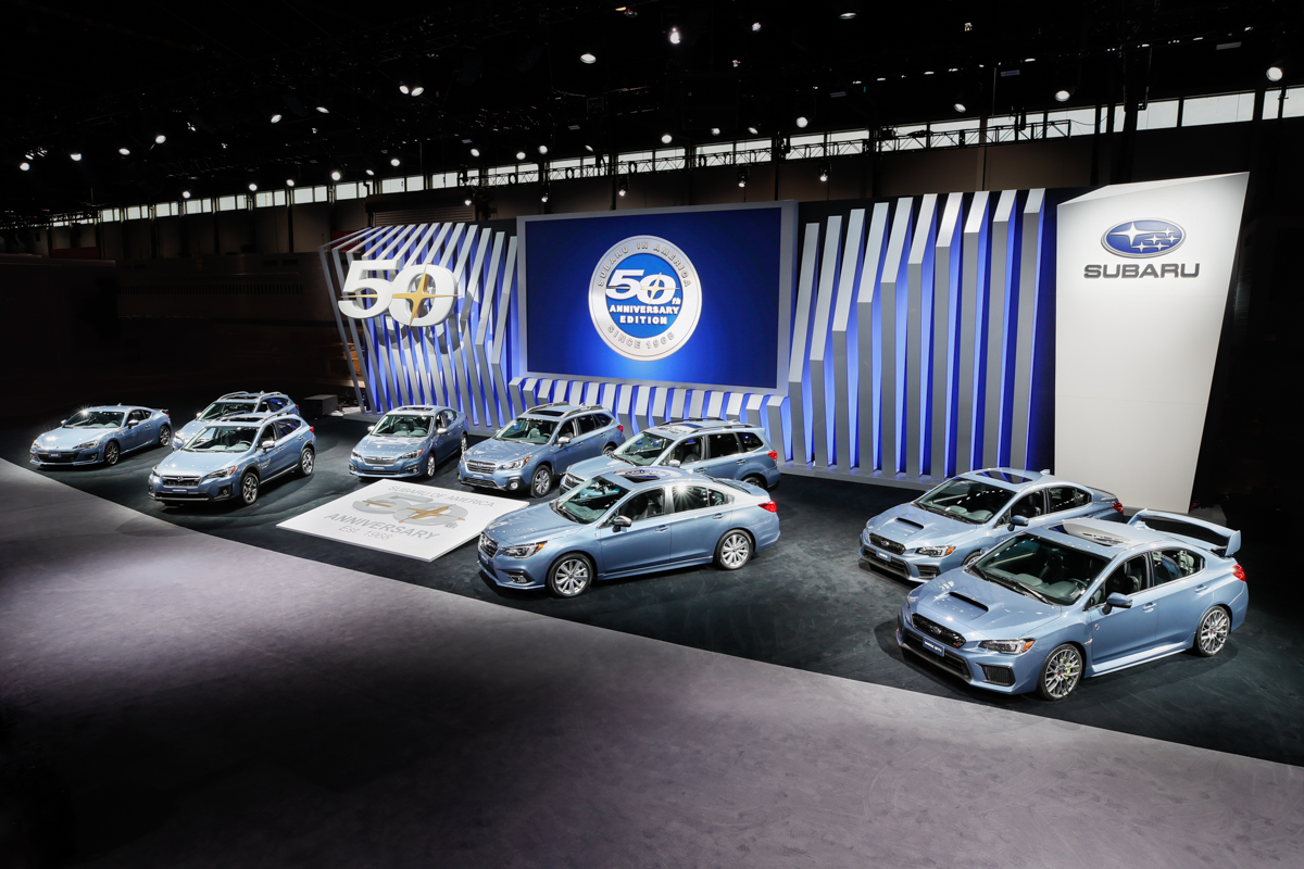 Subaru Celebrates 50 Years in America with Special Edition Models